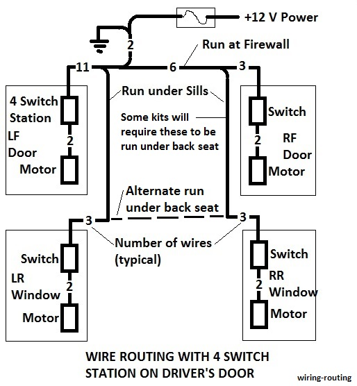 wiring routing 1964 falcon power window install Basic Electrical Wiring Diagrams at crackthecode.co